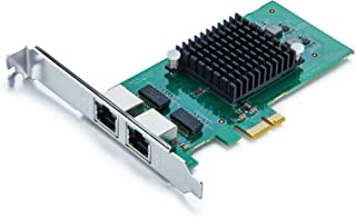 10Gtek for Intel 82576 Chip 1. 25G Gigabit Ethernet Converged Network Adapter (NIC), Dual RJ45 Copper Ports, PCI Express 2...