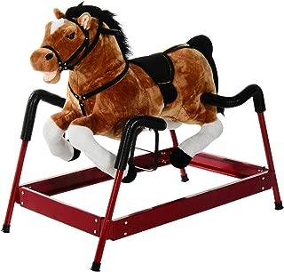 Antik shop Rocking Horse, Horse Toy Children Vintage Plush Rocker Wooden Ride W/