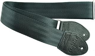 Souldier Custom GS0000BK04BK Recycled Seatbelt Electric Guitar Strap, Black
