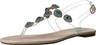 Betsey Johnson Blue Women's SB-Gabbi Flat Sandal