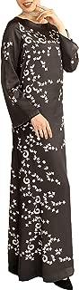 Artizara Womens Rumi Quote Love Formal Modest Maxi Dress Kaftan - Black