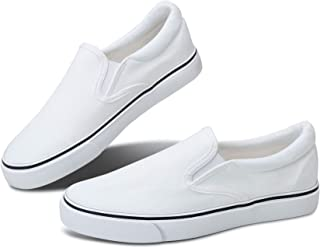 Women's White Sneakers Black Slip on Shoes for Women Low...