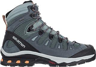 Salomon Women's Quest 4D 3 GTX W Hiking Shoes, Lead/Stormy Weather/Bird of Paradise, 11