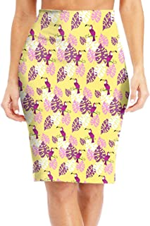 9a93dcbad7 Hawaiian and Jungle Style Women s Fashion Printed Pencil Skirt