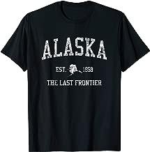 Alaska T-Shirt Vintage Sports Design Alaskan AK Tee