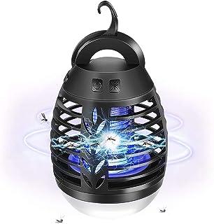 AETKFO Lampara Antimosquitos Electrico, 2 en 1 Lampara Antimosquitos Exterior, Lámpara Antimosquitos USB Recargable para A...