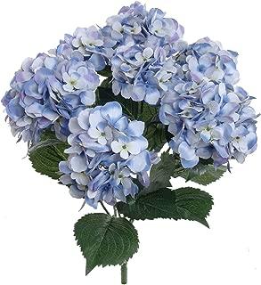 artificial hydrangea flowers in vase