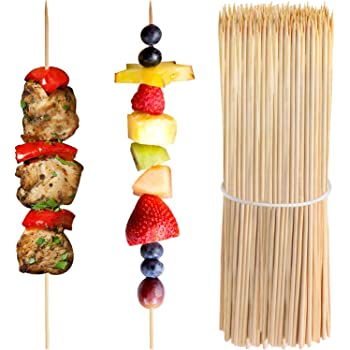 """200 X 10/"""" Bamboo Wooden Skewers Sticks BBQ Grill Kebab Fruit Chocolate Fountain"""