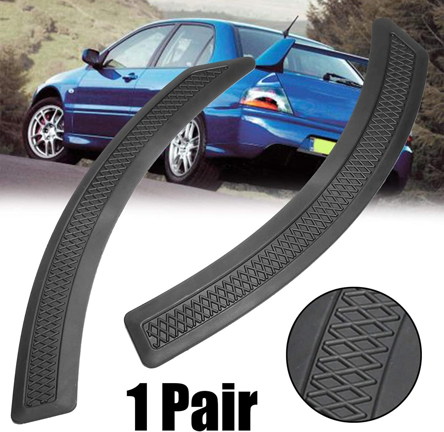 1 Pair Front Fender Side Vent Mesh Cover Trim ABS Black Moulding for Mitsubishi Lancer 20082015