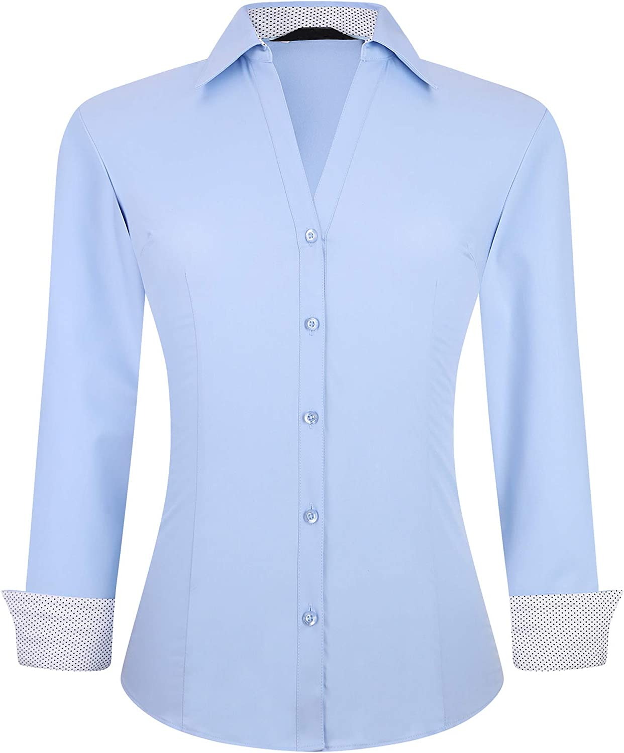 Alex Vando Womens Button Down Shirts Low price Sleeve Stret Long Direct sale of manufacturer Easy Care