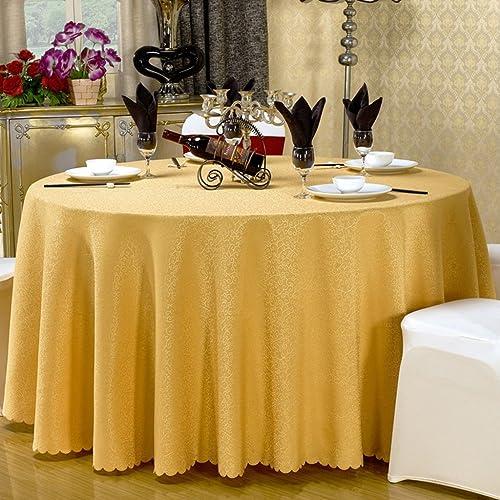 William 337 Runde Tischdecke Tischdecke - Hotel Wohnzimmer Kaffee Tischdecke (QP90628) (Farbe   F, Größe   Round- 300cm)