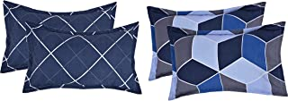 "RRC Super Soft Microfiber Cotton Pillow Covers Set of 4-18"" x 27"", Printed Pillow Covers Multicolor"