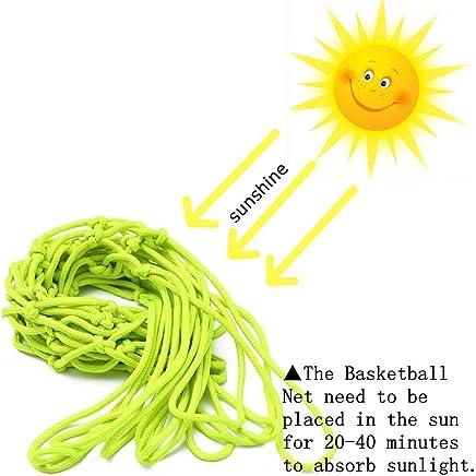 bd0d246944 CAMTOA Glow In The Dark Basketball Net Portable Outdoor Sun Powered Sports  Basketball Hoop Net Replacement