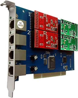 Asterisk用 FXO/FXS カード TDM410P 2 FXO+2 FXS モジュール,PCI,Issabel,Freepbx,asterisknow IP電話機器 TDM410 TDM400P Asterisk VoIP PBX