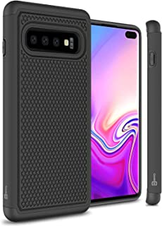 CoverON Heavy Duty Hybrid HexaGuard Series for Samsung Galaxy S10 Plus Case, Black