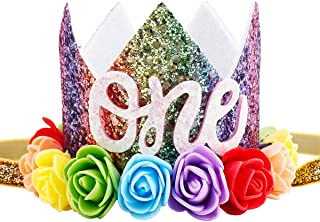 1st birthday flower crown