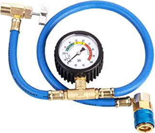 Aain LX1383 Car A/C Refrigerant Pro R-134A Heavy Duty Charging Hose/Air Conditioning Low Pressure Gauge
