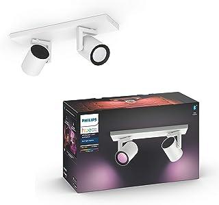 Philips Hue Argenta Opbouwspot 2-Lichts - Duurzame LED Verlichting - Wit en Gekleurd Licht - Verbind met Bluetooth of Hue ...