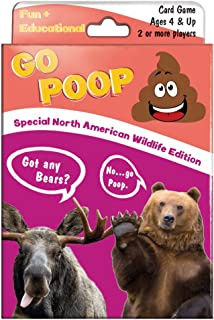 Tree-Free Greetings North American Wildlife Go Poop Card Game, for Ages 4 and Up (KG13405)
