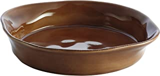 Rachael Ray Cucina Stoneware 1.5-Quart Round Baker, Mushroom Brown