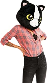 CLEVER IDIOTS INC Animal Head Mask - Plush Costume for Halloween Parties & Cosplay (Cat)