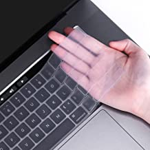 FORITO Ultra Thin TPU Keyboard Cover Compatible MacBook Pro 16 inch A2141 2019 Release with Touch Bar and Touch ID Model -Clear
