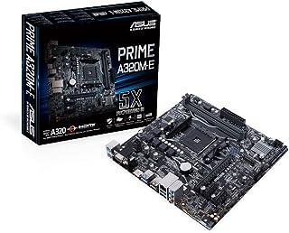 ASUS PRIME A320-E AMD AM4 uATX Motherboard, LED lighting, DDR4 3200MHz, 32Gb/s M.2, HDMI, SATA 6Gb/s, USB 3.1 Gen 2