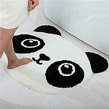 Tapis rond en peluche pour enfants en forme de visage de panda mignon tapis de jeu pour salon, salle à manger, chambre à c...