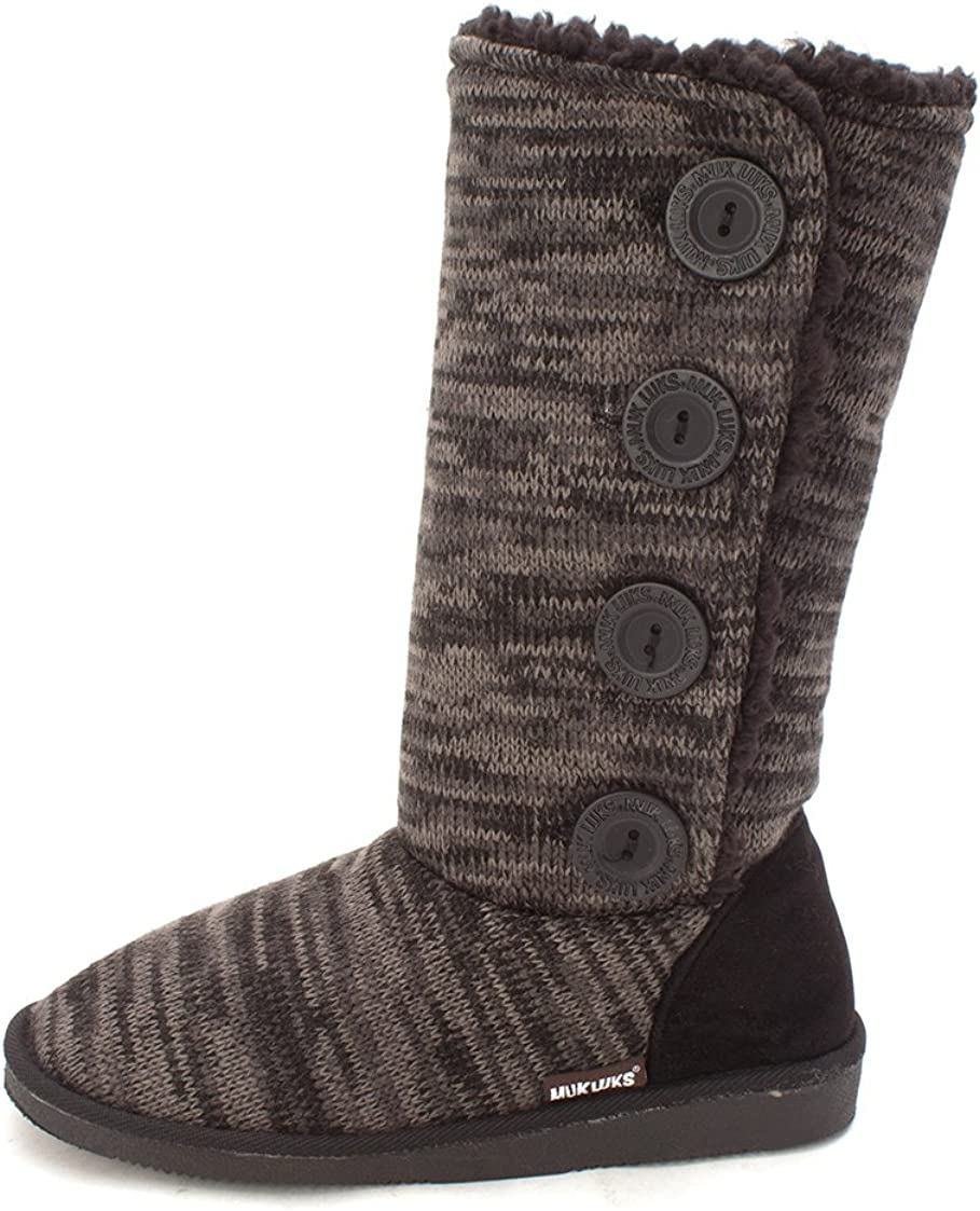 Muk Luks Women's Liza Boots-Black Fashion