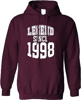 21st Birthday Hoodie Hood Legend Since 1998 Twenty First