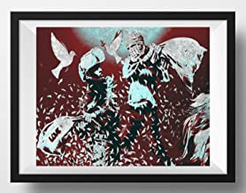 Banksy Art Print Israeli Palestinian Pillow Fight Giclée Modern Wall Decor Contemporary Home Or Office Art 5