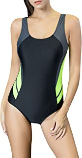 Women's One Piece Swimsuits Racing Training Sports Athletic Swimwear
