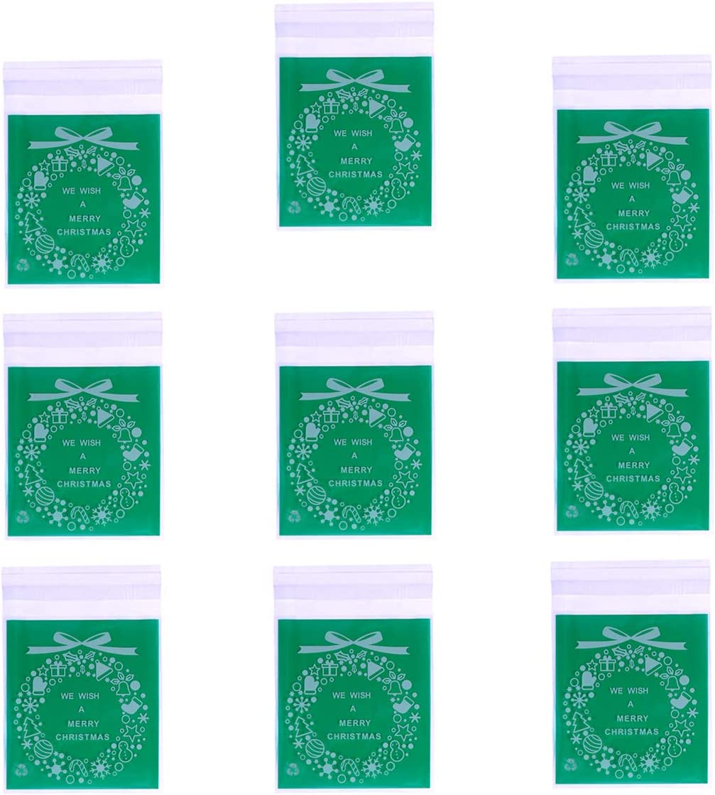 Choice NUOBESTY 200Pcs Christmas Max 85% OFF Candy Cookie C for Bags Biscuit Bakery