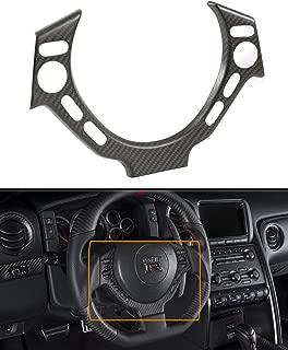 Cuztom Tuning Matte Dry Carbon Fiber Steering Wheel Center Trim Cover Fits for 2009-2016 Nissan GTR R35