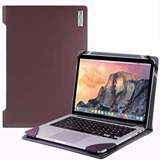 """Broonel - Profile Series - Purper lederen Hoes - compatibel met de Lenovo ThinkPad T14s 14"""" Laptop"""