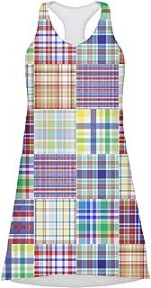 Blue Madras Plaid Print Racerback Dress (Personalized)