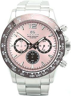 [エルジン]ELGIN 腕時計 EGシリーズ クロノグラフ メタルバンド オーロラ ピンク EG-002-P メンズ