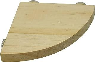 Niteangel Wooden Small Animals Platform, Fan Shape Springboard for Cage