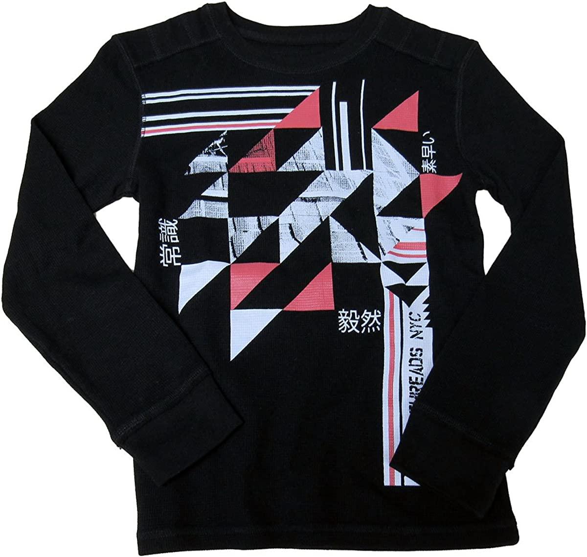 Epic Threads Boys' Long-Sleeve Graphic-Print Thermal T-Shirt