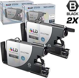 LD © Compatible With Brother LC75 Pack of 2 High Yield Ink Cartridges: 2 LC75BK Black Compatible With Brother MFC-J280W, MFC-J425W, MFC-J430W, MFC-J435W, MFC-J5910DW, MFC-J625DW, MFC-J6510DW, MFC-J6710DW, MFC-J6910DW, MFC-J825DW and MFC-J835DW Printers