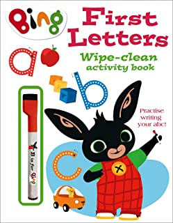 First Letters Wipe-clean activity book (Bing)