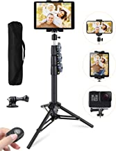 """Phone Tablet Tripod, 51"""" Extendable iPad Tripod Stand with Phone/Tablet Holder Mount, Wireless Remote and Carry Bag, Compa..."""