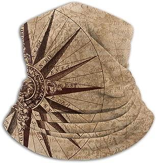 Compass Sailing Map Neck Warmer Gaiter Balaclava Ski Mask Cold Weather Face Mask Winter Hats Headwear For Men Women