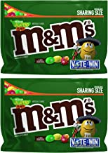 M&M's (Pack of 2) Chocolate Candy Flavor Vote Mexican Jalapeno Peanut Sharing Size, 9.6 Ounce Bag