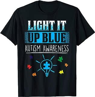 Light It Up Blue Autism Awareness Shirt Support Autism Kids