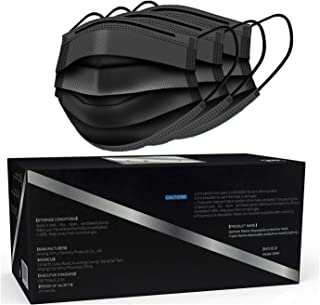Face Mask, 50 Pack Black face mask,Disposable Face Masks