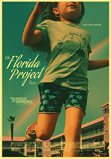 ホームウォールアートデコレーション絵画ポスターアメリカのドラマ映画フロリダプロジェクトハイキャンバス絵画ポスター-50x70cmフレームなし