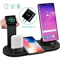 Labobbon 4 in 1 Wireless Fast Charging Station for iPhones, Apple Watch And AirPods