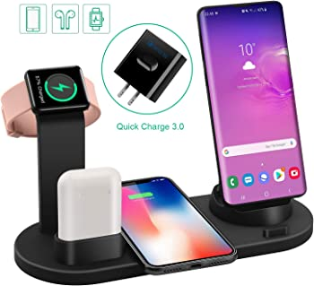 Labobbon 4 in 1 Wireless Fast Charging Station