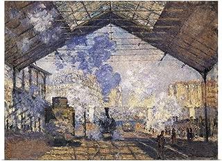 GREATBIGCANVAS Poster Print La Gare Saint-Lazare by Claude Monet 16